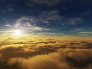 安卓开阔 风景 阳光 大气 旅游 云海 蓝天 云彩 天空 蓝天手机壁纸