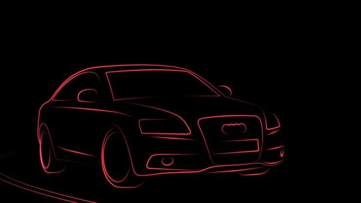 安卓简约 设计 宝马 gtr 奥迪 汽车 黑色 线条 宽屏 创意手机壁纸