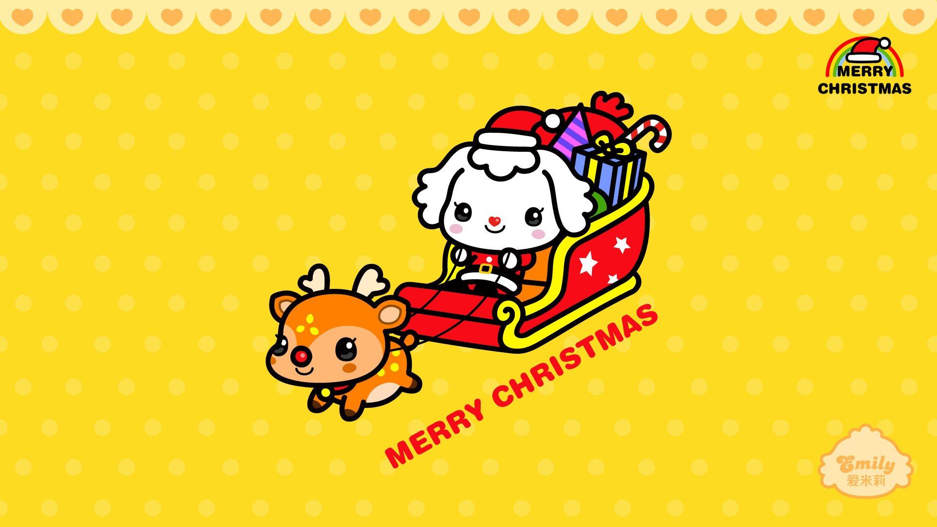 android安卓动漫 可爱 动画 手绘 圣诞节 爱米莉高清