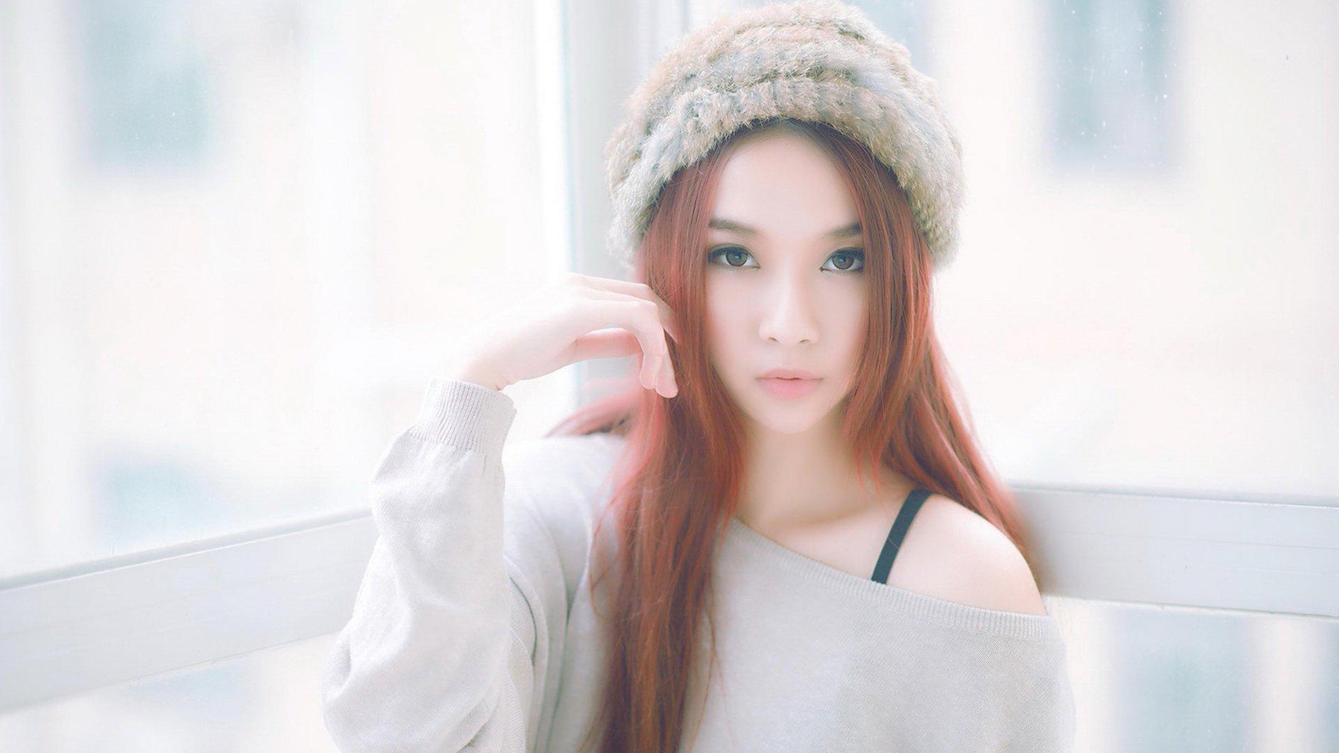 android安卓美女 清纯 可爱 长发 清新 居家 摄影  萌
