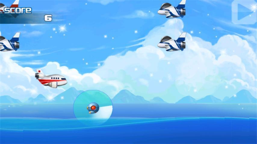 通过点击来向上飞行,松手后飞机呈现自由落体下降,操作类似flappy bir