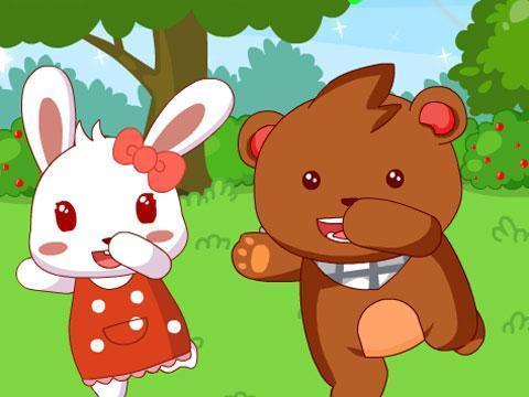 快乐的节日 洋娃娃和小熊跳舞