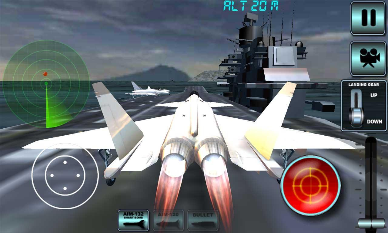 画面酷炫,真实模拟驾驶喷气式战斗机 驾驶喷气式战斗机的是一个真棒新的3D飞行模拟器游戏,成为飞行员飞的喷气式飞机到目的地。通过正确的位置,引导你的飞机,以确保你的头到正确的目的地飞向雷达的红点。土地在成功击中后您的目的地。到达目的地区域时,减缓飞机上下来,并准备降落时,小心不要崩溃!引导你的飞机对跑道和公园标记的区域内完成的水平。同时停放飞机,必须非常小心,不要坐失良机,你需要登陆。正如你进步,你有机会来解锁更大的飞机和任务。喷气式战斗机模拟器3D特点:?