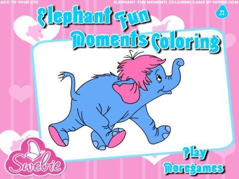 小孩画画简单图片大象