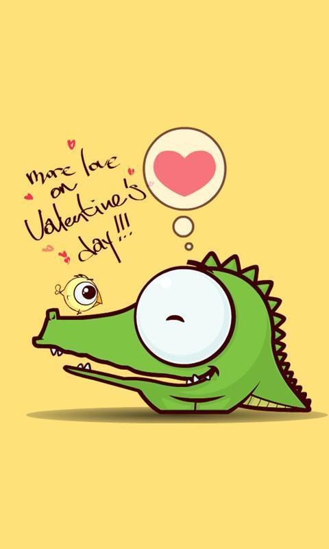 壁纸主题 >卡通大眼鳄鱼动态锁屏壁纸  明快的颜色,可爱的动物形象