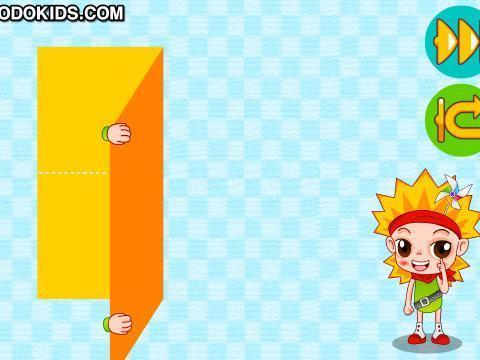 小朋友一起来折纸房子吧!