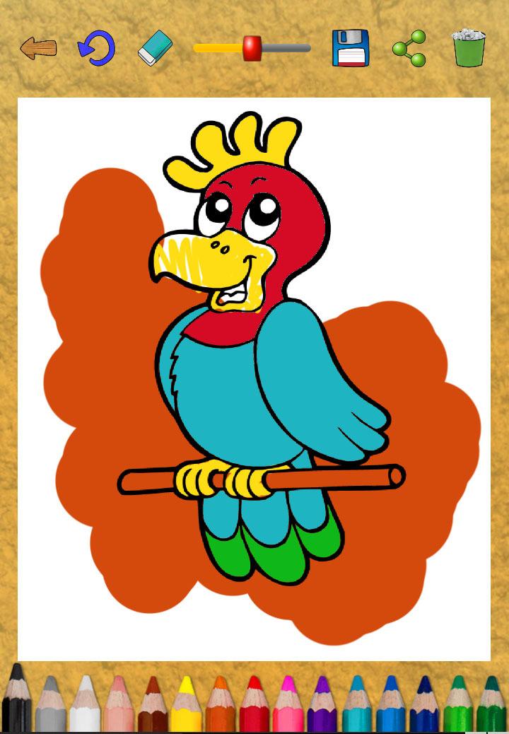 儿童画画涂色:动物世界