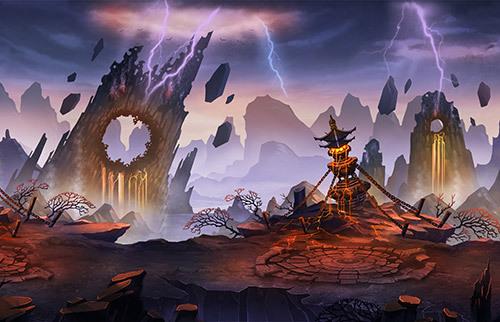 《炫影诀—山海经传说》在对游戏场景的勾勒中匠心独用,从巍峨耸立的