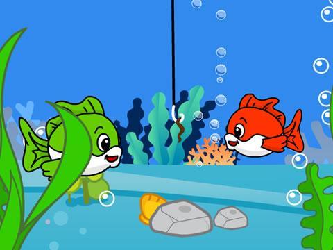 鱼儿卡通矢量图