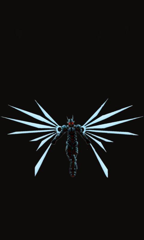 黑色羽翼主题动态壁纸